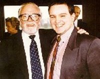 Pádraig Naughton with Lord Richard Attenborough